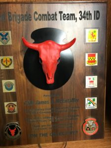 34th INF DIV Red Bull plaque